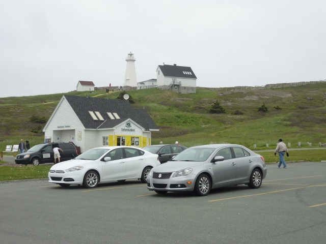 Cape Spear Visitor Centre - Notice something odd? - Cars in canada do not display licence plate in the front side