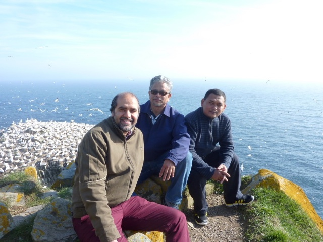 With Prof Faisal Khan and Prof MWA at the Gannet sanctuary
