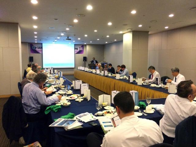 Prof Hamdani delivering bid proposal to the Board of Director, International Association of Hydrogen Energy
